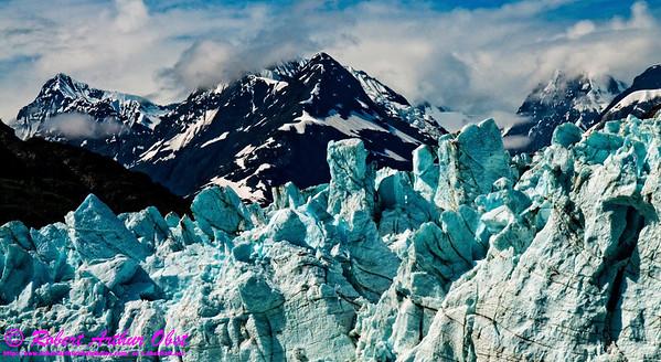 Obst Photos Nikon D300s Obst Adventure Travel Alaska Image 8424 or LIGAI_8424_AK04.SkagwayAKtoGlacierBayAK.USA.AK.Gustavus.GlacierNPAP.GlacierBay.BlueSkiesOverMargerieGlacierAndTarrInletNearMountTurner-B