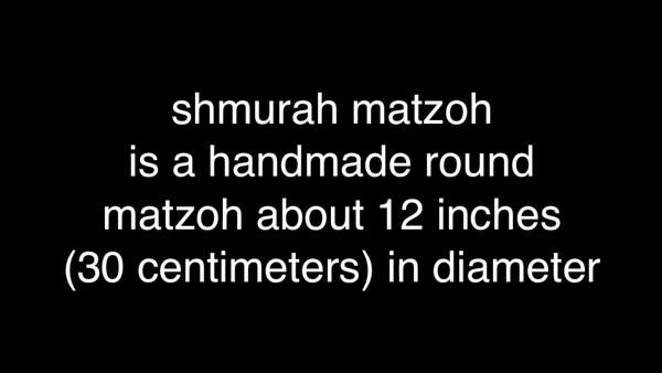 VIDEO: 18 Minutes, The Making of Shmurah Matzoh. (April 2010)