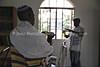 UG 522  Abayudaya Jews  Rabin Asiimwe (L) and Samson Nderitu  Moses Synagogue, Nabugoye Village, Mbale, Uganda