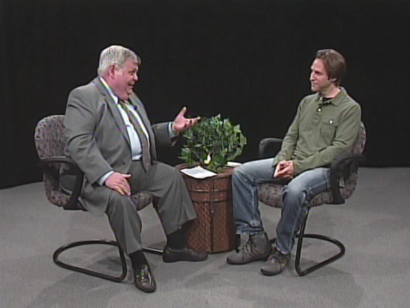 """Jono David interview on """"In Montgomery County"""" (screen shots) on Access Montgomery TV 19 and TV 21 (content © by show host Toby Beach; permission of use by Toby Beach). Show recorded on April 1, 2010."""