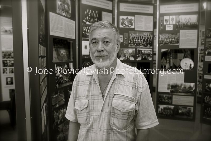 EE 25  Amnon-Juzef Luvistsuk, director of the of the Estonian Jewish Museum, TALLINN, ESTONIA