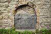 EE 98  Old Jewish cemetery memorial plaque  TALLINN, ESTONIA