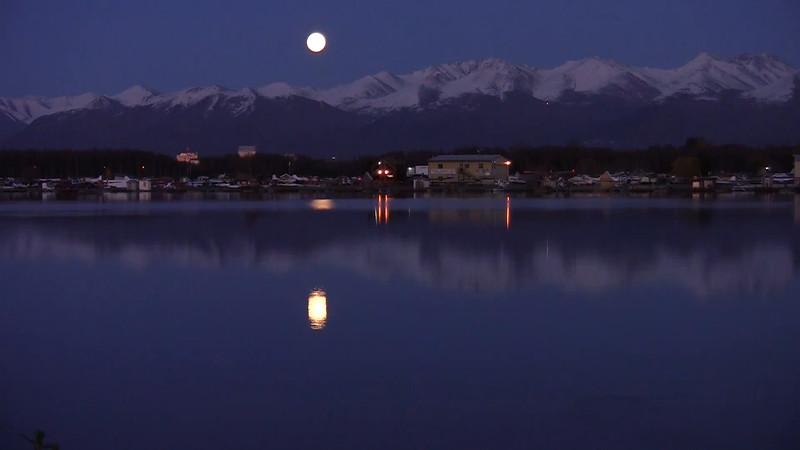 lake hood moon
