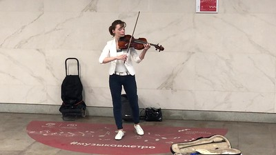 Violinista en el metro de Moscu