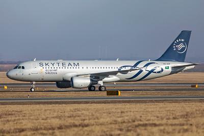 Saudi Arabian Airlines Airbus A320-214 HZ-ASF 2-17-19 2