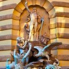 Fountain on the Michael gate in Vienna
