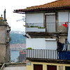 High above the Douro River in Porto, Portugal's second largest city where  the Douro River meets the Atlantic Ocean. In the distance is Vila Nova de Gaia.