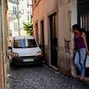 An example of the incredibly narrow streets of the Alfama neighborhood of Lisbon.