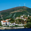 Wind turbines provide valuable renewable energy high above the Douro.