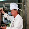 Viking's Executive Chef Richard explains how to select and prepare octopus at a local market in Porto.