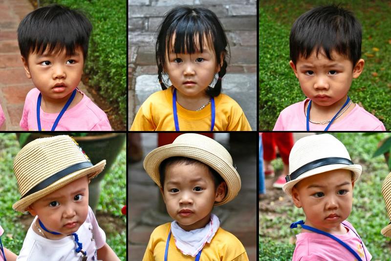 HANOI, Temple of Literature, School children visiting the temple