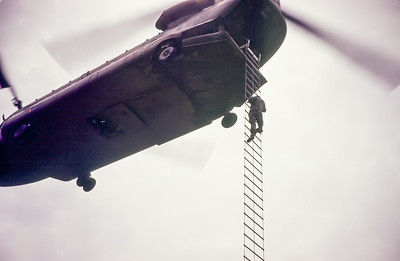 Climbing Ladder into Chinook