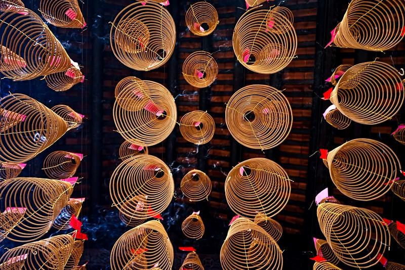 HO CHI MINH CITY (SAIGON),   Thien Hau Pagoda, incense burning