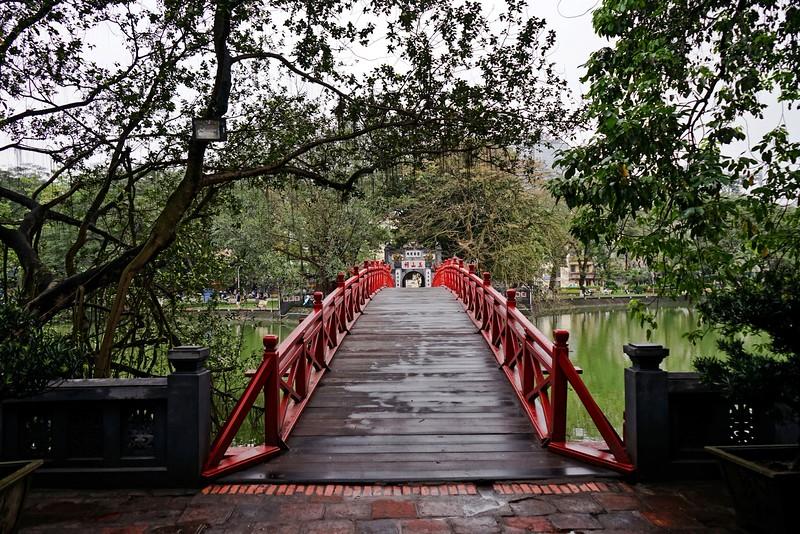 HANOI, Entrance to Ngoc Son Temple, Hoan Kiem Lake