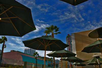 Fourth Street Promenade In Santa Monica, California.....from the deck at Wolfgang Puck's