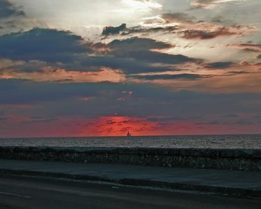 Havana Sunset with Boat