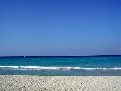 Crystal is not only a cerveza in Cuba, it is also the water !