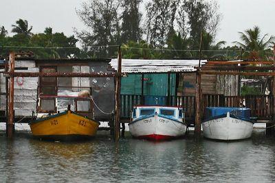 Boats in a Santa Fe Harbor - Santa Fe, Cuba