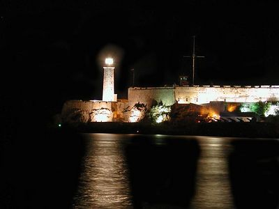 The Havana LighthHouse at Night