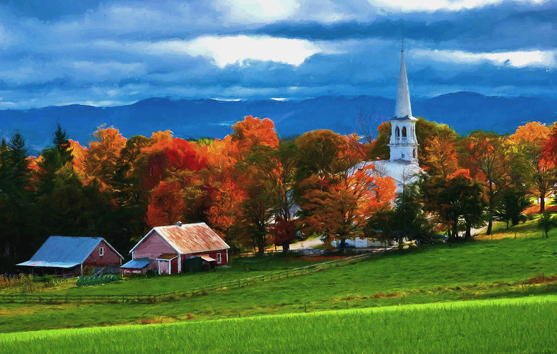 Peacham ,Vermont village