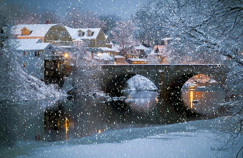 Henniker Village snow