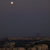 Levé de lune sur le grand dôme de Xewkija, Gozo