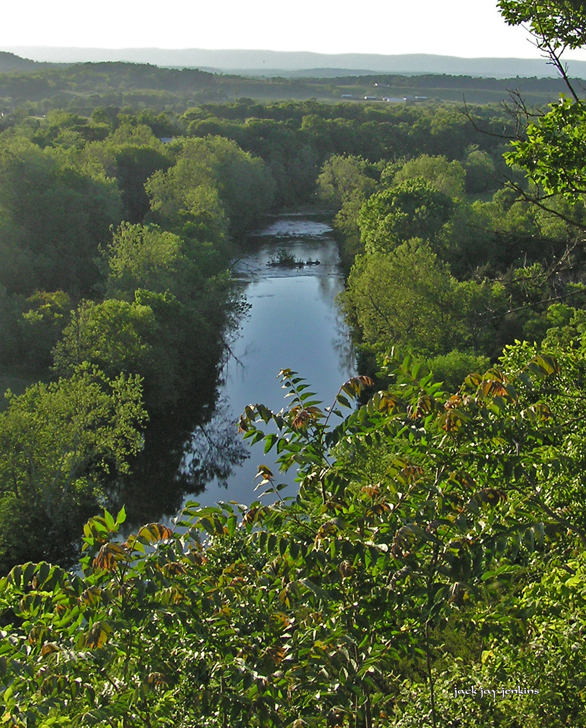 The North Fork of the Shenandoah River will eventually join the south fork at Front Royal, Virginia, and flow into the Potomac River at Harpers Ferry, West Virginia.