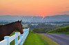 Horse at Sunset near Dayton in the Shenandoah Valley of Virginia, USA