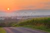 Sunset near Dayton in the Shenandoah Valley of Virginia, USA