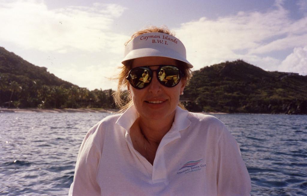 Betty in sun glasses Trip to Virgen Islands 1989