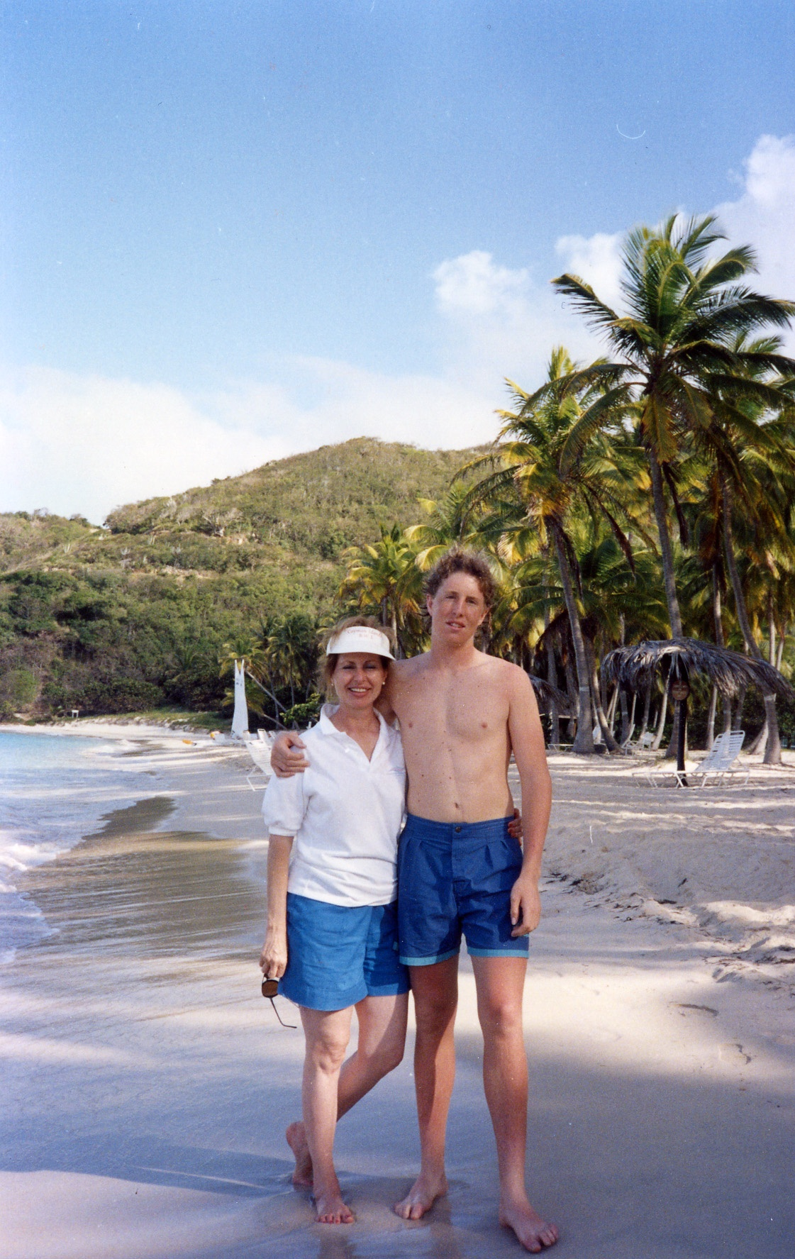 Tommy and Betty on an island during Trip to Virgen Islands 1989
