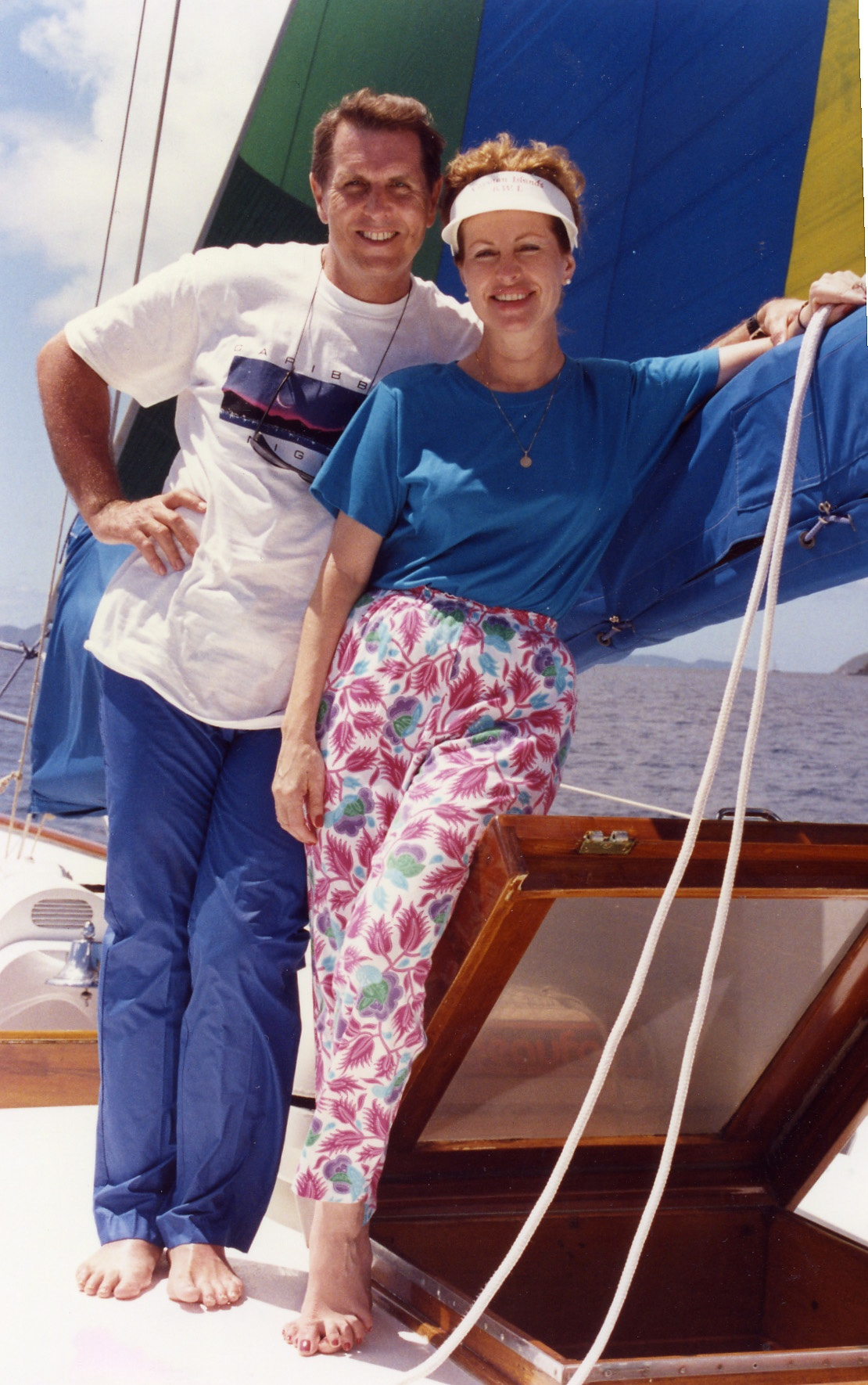 Close up of Tom and Betty Trip to Virgen Islands 1989