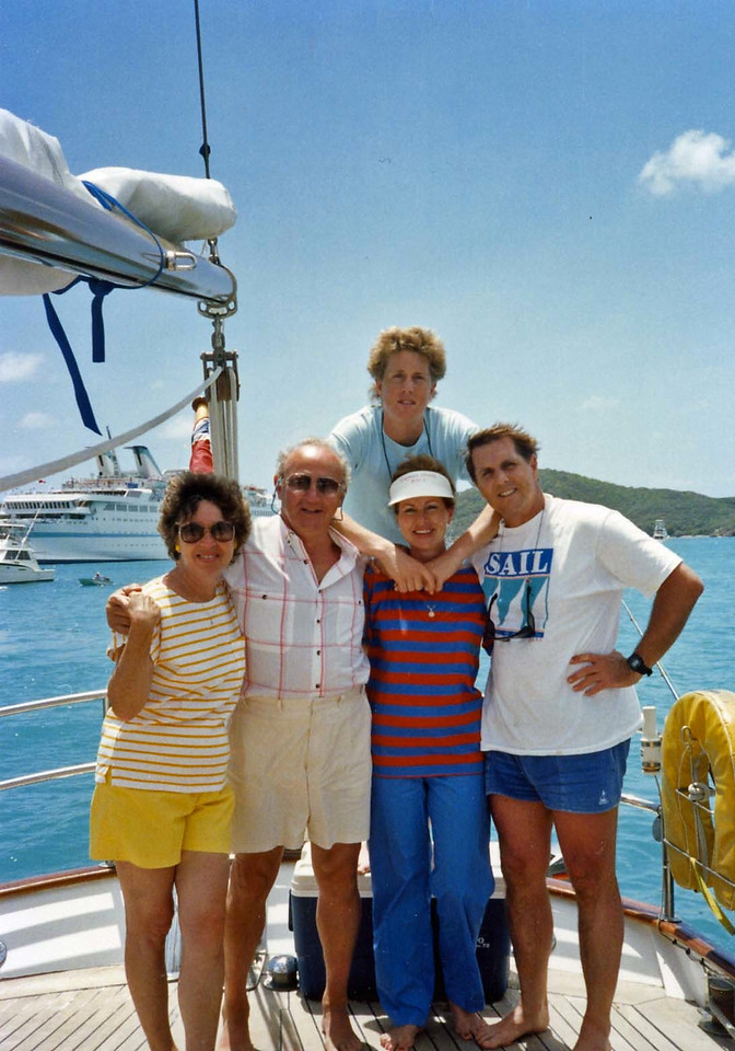 Our Group aboard the Natasha trip to Virgin Islands aboard the Natasha, March 18-25, 1989