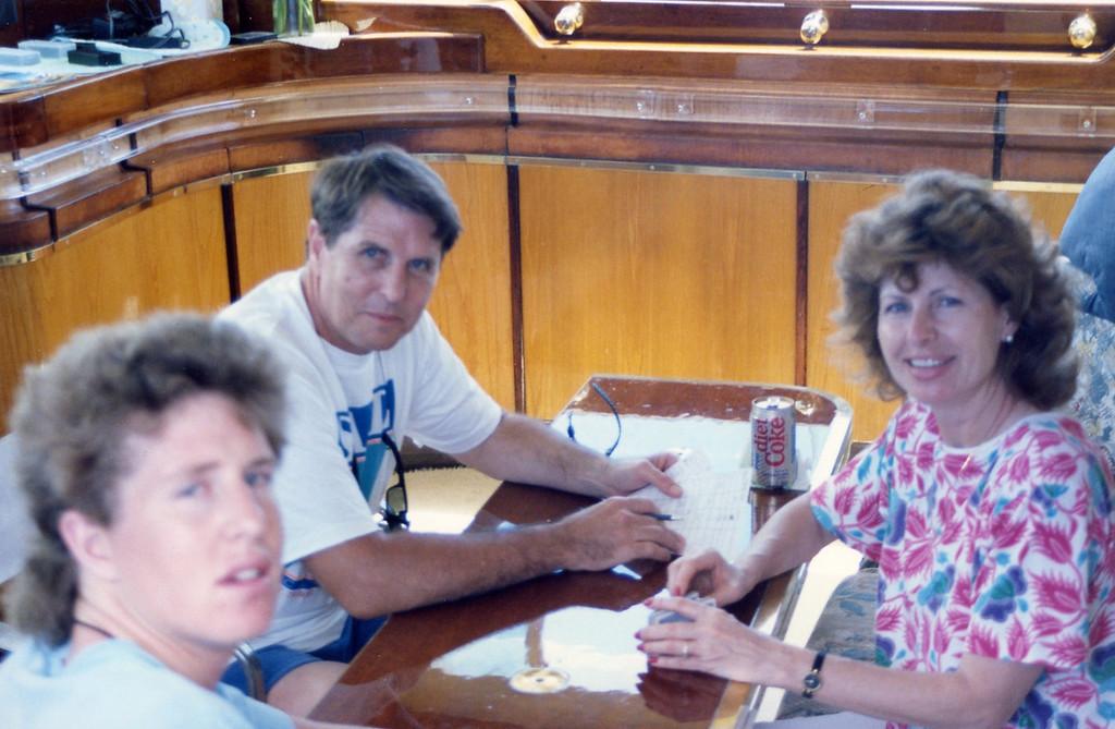 Playing Skat Trip to Virgen Islands 1989