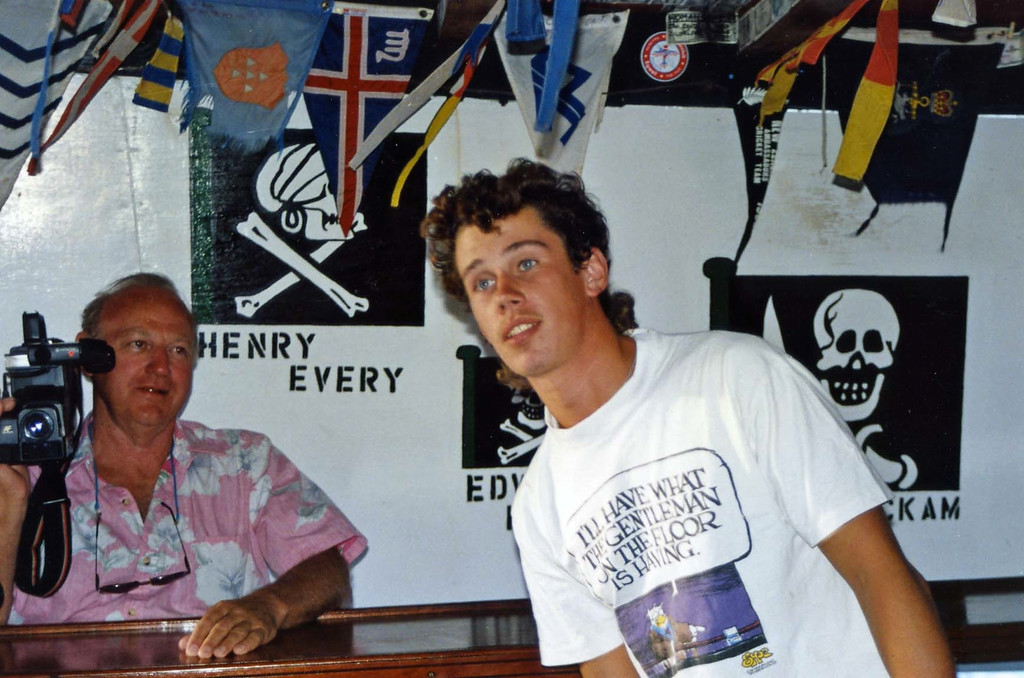 Floating bar, Carl Re, British Virgin Island Trip, Easter Vacation