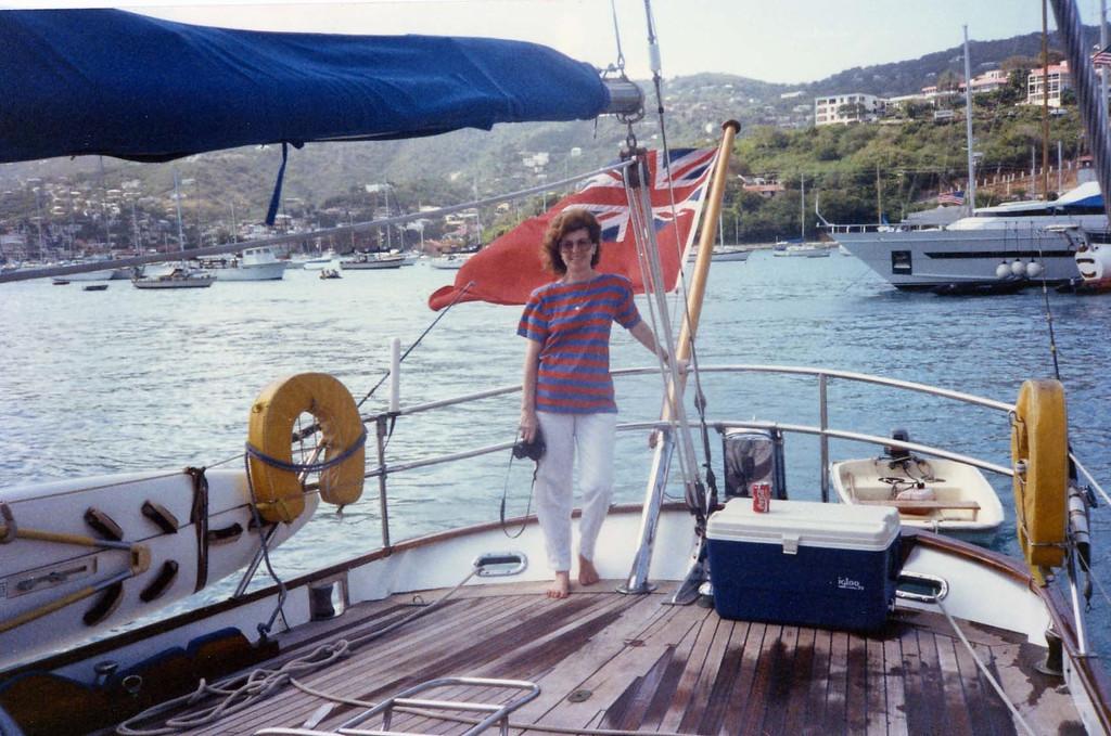 Betty aboard trip to Virgin Islands aboard the Natasha, March 18-25, 1989