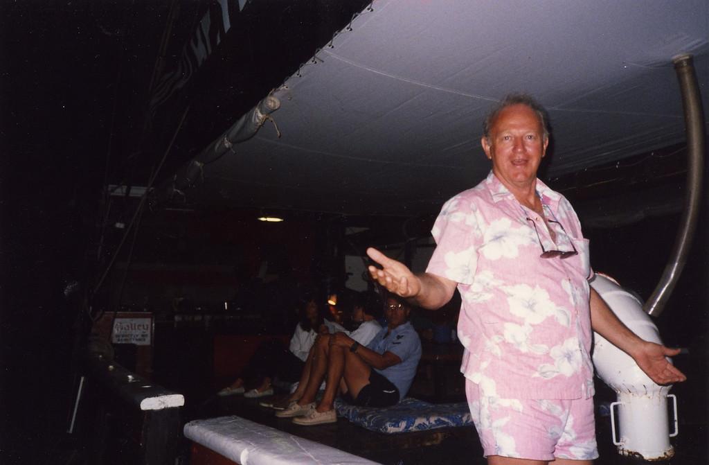 Carl Re in port Trip to Virgen Islands 1989