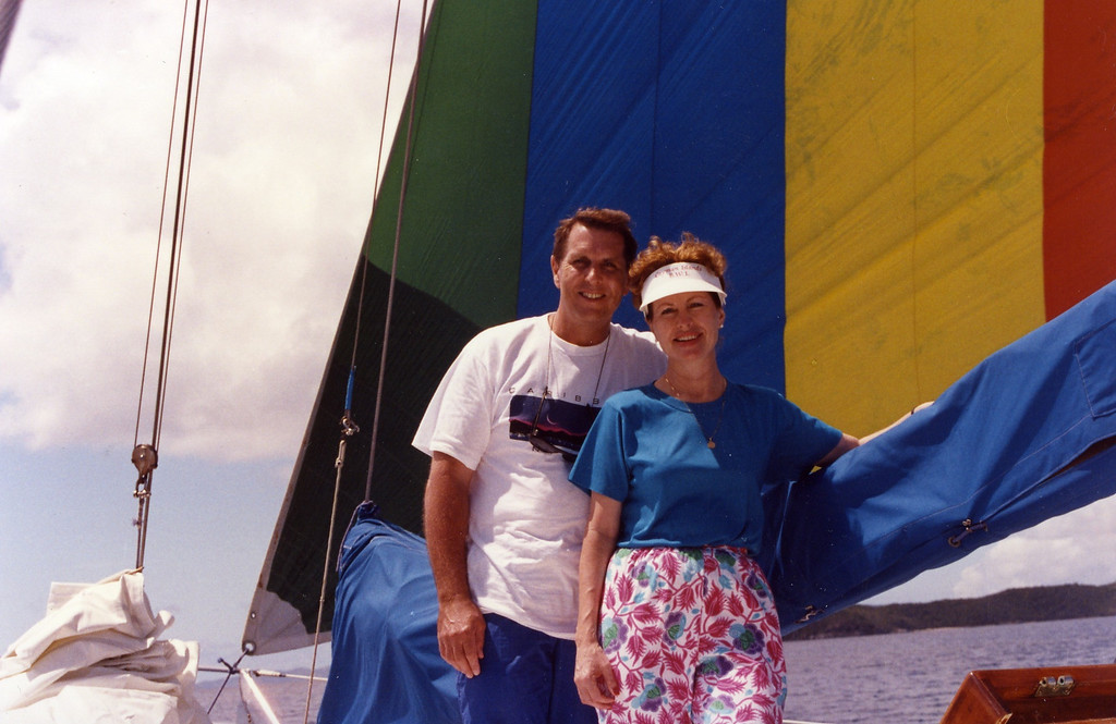 Tom and Betty sailing Trip to Virgen Islands 1989