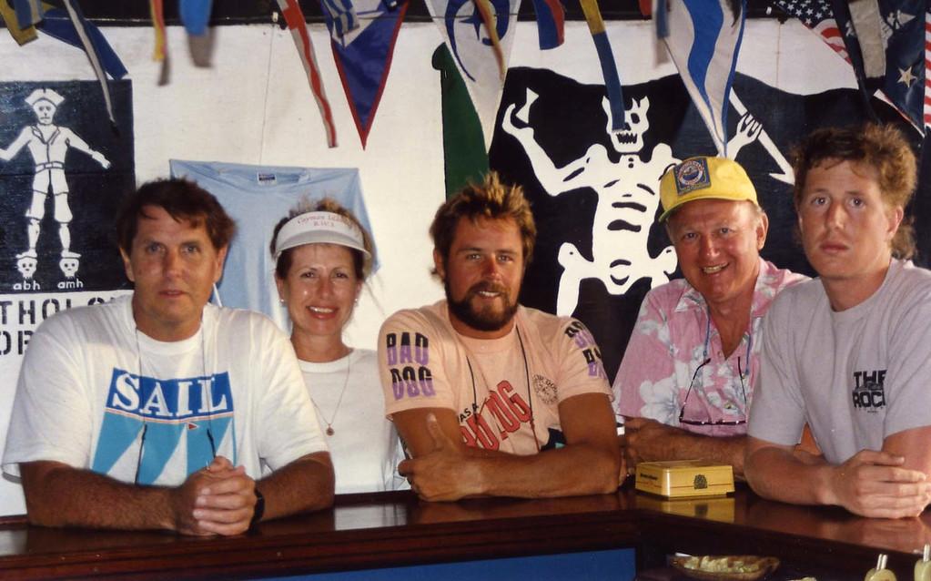 B52's at the sea bar British Virgin Island Trip, Easter Vacation
