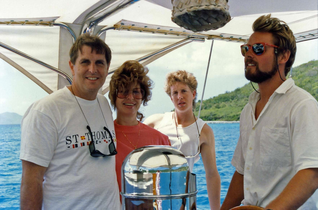 Sailing away witht the family trip to Virgin Islands aboard the Natasha, March 18-25, 1989'