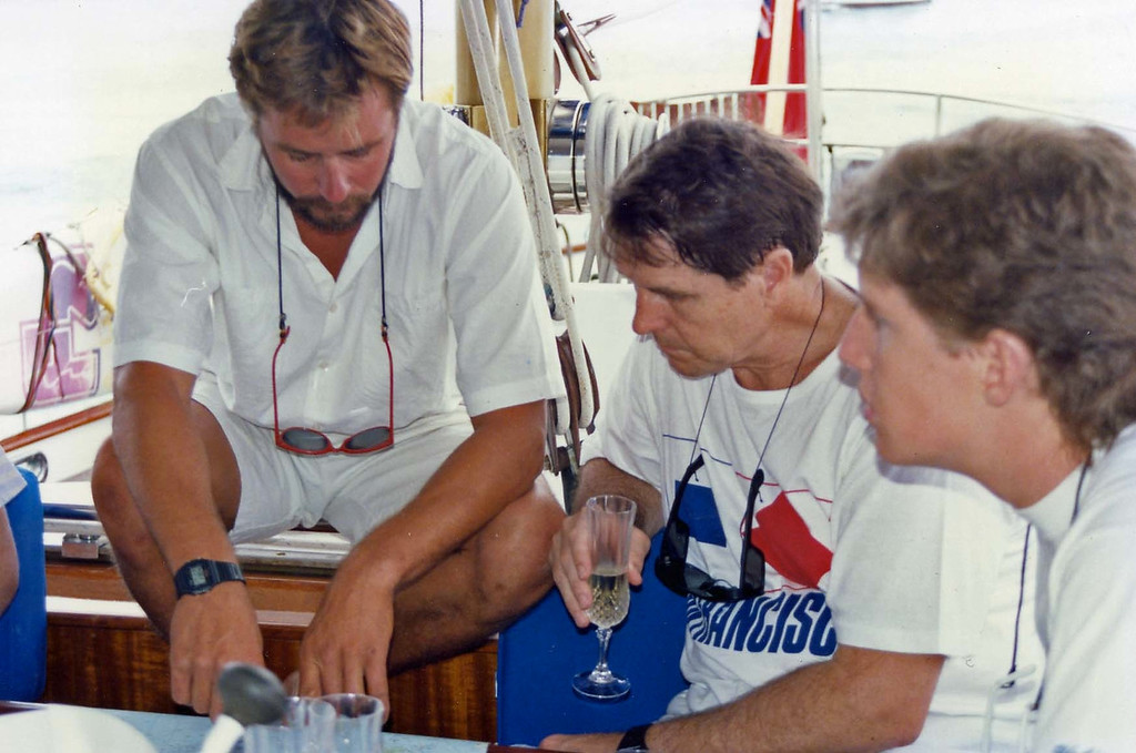 Planning our sailing trip with Captain Nigel trip to Virgin Islands aboard the Natasha, March 18-25, 1989