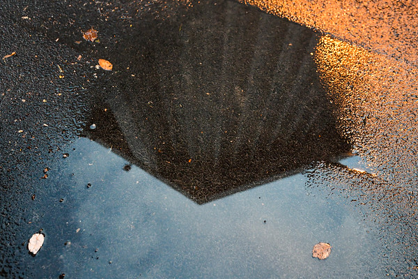 Reflection of the dome after a stormy night.