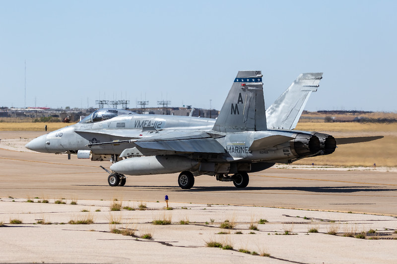 "-(Aircraft) McDonnell Douglas F/A-18A+ Hornet<br /> -(Nation & Service) United States Marine Corps<br /> -(Squadron) Marine Fighter Attack Squadron 112 ""Cowboys"" <br /> -(Home Base) Naval Air Station Joint Reserve Base Fort Worth, Texas"