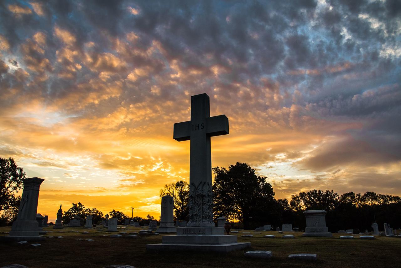 Calvary Cemetery at Sunrise