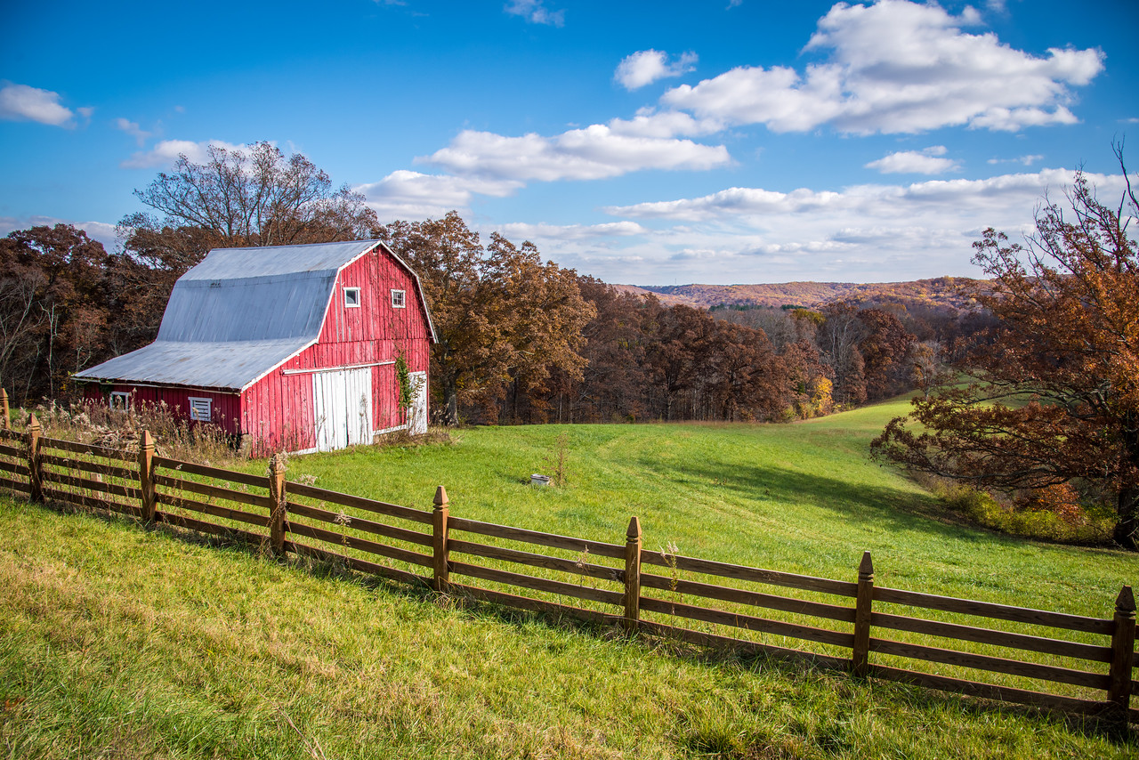 Red Barn on 46 near Brown County State Park