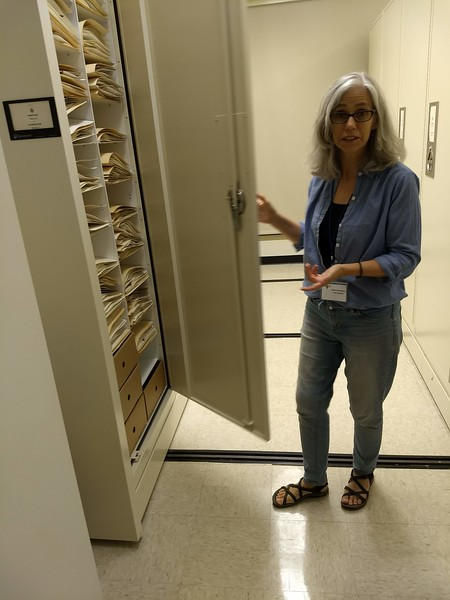 Beth Chambers at W&M Herbarium