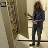 Beth Chambers at W&M Herbarium