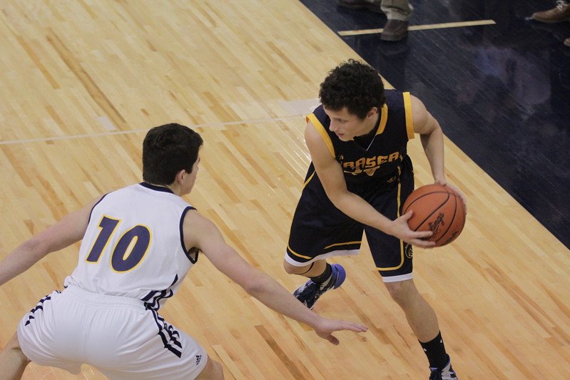 Fraser's Jordan Bell (23) had nine points, including the game winner with just over six seconds remaining in double overtime in a 48-47 win over Port Huron Northern Thursday, Jan. 26. (MIPrepZone photo gallery by Randy Castro)