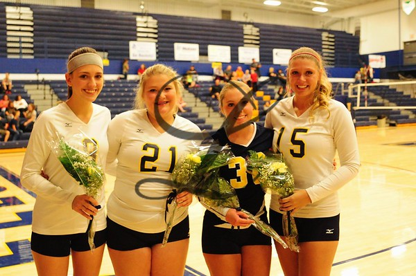 VB senior night 2015-16