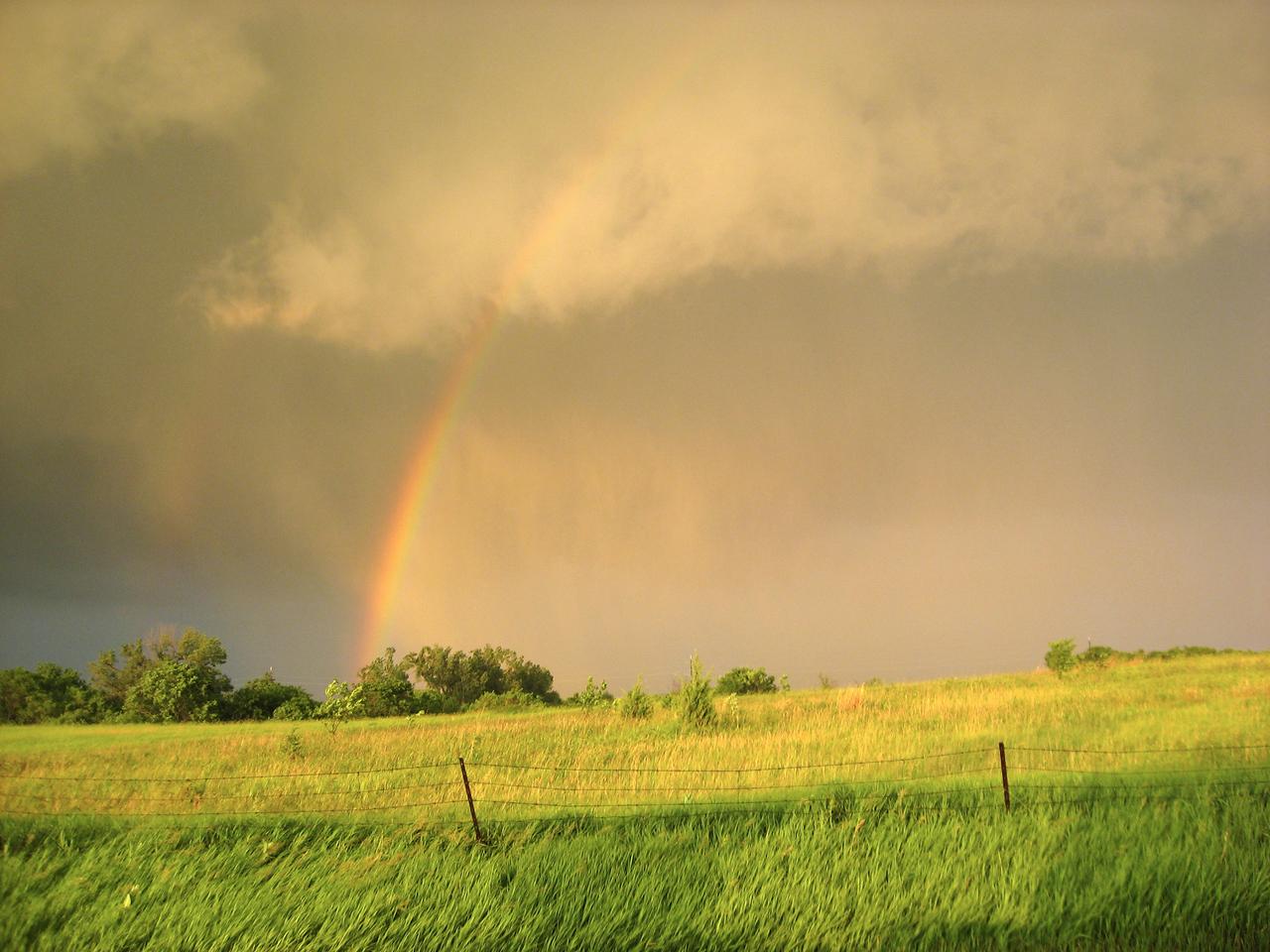 Rainbow at Golden Hour